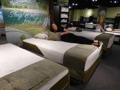 Natura unveiled Sensational, 3 beds filled with signature ingredients--latex, cotton, wool--and trimmed with an eye-catching angled border.