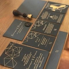 Gold Foil Modern Geometric Wedding Invitation, Modern Industrial Wedding, Minimal Invitation with RSVP, SAMPLE 28 Destination Wedding Invitations, Modern Wedding Invitations, Wedding Stationary, Wedding Planning, Industrial Wedding, Modern Industrial, Geometric Wedding, This Is Us Quotes, Creating A Brand