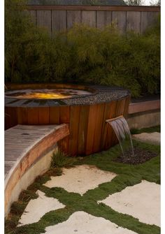 Outstanding Hot Tub Ideas To Create A Backyard Oasis Browse images of amazing hot tub designs and get some excellent tips and ideas to create your own relaxing backyard spa oasis. Hot Tub Backyard, Backyard Patio, Patio Decks, Decking, Modern Landscaping, Pool Landscaping, Jacuzzi, Garden Tub Decorating, Decorating Ideas