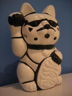 Lucky Stormtrooper cat
