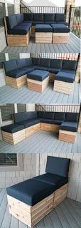 Sectional Patio Furniture Made From Pallets      -   #pallets    #diy