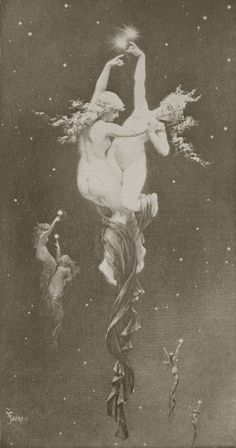 Master Paintings of the World - The Double Star, Luis Ricardo Falero - Vintage Witch, Vintage Art, Vintage Moon, Norman Lindsay, Witch Aesthetic, Oeuvre D'art, Faeries, Dark Art, Art Inspo