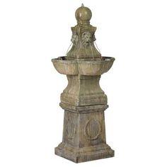 Tuscan Garden Pedestal Outdoor Fountain