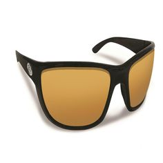 Flying Fisherman Cay Sal Matte Black w-Amber Sunglasses