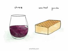 Shiraz and Smoked Gouda http://winefolly.com/tutorial/wine-cheese-pairing-ideas/