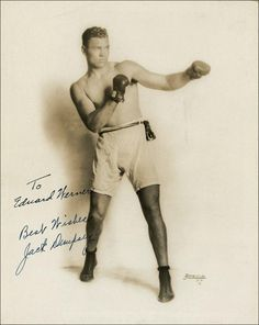 "William Harrison ""Jack"" Dempsey (""The Manassa Mauler"") (June 24, 1895 – May 31, 1983) was an American boxer who held the world heavyweight title from 1919 to 1926. Dempsey's aggressive style and exceptional punching power made him one of the most popular boxers in history. Many of his fights set financial and attendance records, including the first million dollar gate. He is listed #10 on The Ring's list of all-time heavyweights and #7 among its Top 100 Greatest Punchers. He is a member of t..."