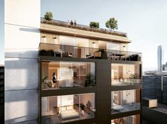 residential multifamily design dtla  rooftop @kevintsaiarchitecture