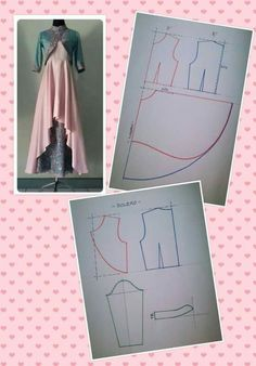 47 Ideas Skirt Pattern Sewing Crafts For 2019 Sewing Dress, Dress Sewing Patterns, Sewing Clothes, Clothing Patterns, Diy Clothes, Motif Abaya, Abaya Pattern, Pattern Dress, Sewing Hacks