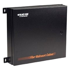 Black Box Network Services Rated Fiber Optic Wallmount Enclosure, 2 Adapter Panels