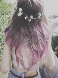 ombre hair, coloured hair