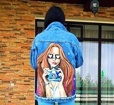 Backdrop Design, Painted Jeans, Fabric Painting, Denim Fashion, Backdrops, Disney Characters, Fictional Characters, Aurora Sleeping Beauty, Disney Princess