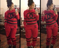 Popular CC Chanel Sweat suit   Sizes run small  7 days processing