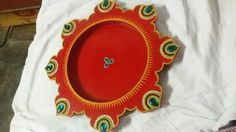 Thali Decoration Ideas, Diy Diwali Decorations, Diwali Diy, Decorative Plates, Arts And Crafts, Creative, Painting, Home Decor, Decoration Home