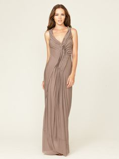 Project Alabama Jersey Knit Pleated Maxi Dress. Everything a maxi should be! Fabulous texture, flattering fit.