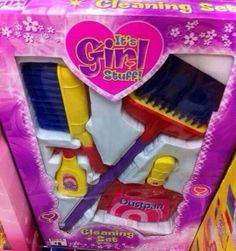 """It's Girl Stuff! Cleaning is everyone's damn job! This is pure sexism sold to children! Gender Issues, Gender Roles, Political Equality, Politics, Creepy History, Cleaning Toys, Riot Grrrl, Just Girl Things, Toys For Boys"