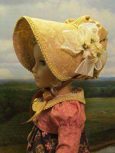 Summer Gown for Caroline Abbott 1812 by petrassewingbox  | eBay. PRAIRIE BONNET WITH STIFFENED BRIM