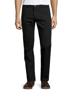 Raffi Straight-Leg Pants, Black, Women's, Size: 33 - Theory