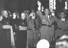 Catholic clergy and Nazi officials, including Joseph Goebbels . How did Christians and their churches in Germany respond to the Nazi regime and its laws, particularly to the persecution of the Jews? Joseph Goebbels, Babylon The Great, German People, Persecution, Kirchen, World War Two, Wwii, Christianity, Germany