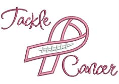 Tackle Breast Cancer Applique - 4 Sizes! | Featured Products | Machine Embroidery Designs | SWAKembroidery.com