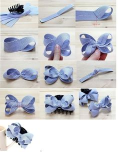 This pin was discovered by tam – Artofit How to make ribbon bow? 8 tips to make a 5 inch hair bow. Bows for Allie Back To School Cards with Bow Tutorial by Mendi Yoshikawa Yoshikawa - Salvabrani Discover thousands of images about Lace and ribbon hair b Ribbon Hair Bows, Diy Hair Bows, Diy Bow, Diy Ribbon, Satin Ribbon Roses, How To Make Hair, How To Make Bows, Baby Bows, Baby Headbands