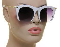 Cat Eye Shade Designer White Vintage Fashion Rasoir Women Sunglasses #Unbranded #CatEye