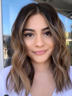 Luscious Balayage With Subtle Purple Tones - 20 Stunning Examples of Mushroom Brown Hair Color - The Trending Hairstyle Brown Hair Balayage, Hair Highlights, Brunette Balayage Hair Short, Balyage Short Hair, Medium Brown Hair With Highlights, Light Brown Highlights, Natural Highlights, Brunette Hairstyles, Men's Hairstyle