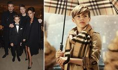 Romeo, 12, who is the second eldest son of David and Victoria, steals the spotlight in the Burberry Festive campaign, From London with Love.
