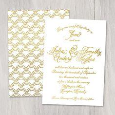 Croquet Gold Foil Custom Wedding Invitation by SmittenOnPaper, $4.00