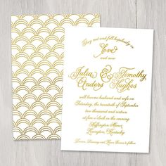 Croquet Gold Foil Custom Wedding Invitation by SmittenOnPaper, $4.00