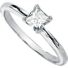 Moissanite Solitaire Ring set in 14k White Gold (1/2 ct.tw.)