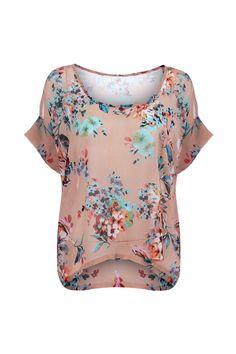 Floral Print Loose Fit Blouse