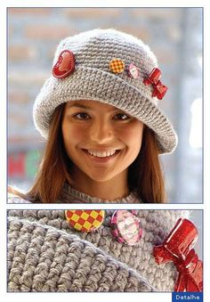 easy to do. Knit Beanie Hat, Crochet Beanie, Knitted Hats, Knit Crochet, Crochet Crafts, Crochet Dolls, Crochet Clothes, Crochet Projects, Loom Knitting