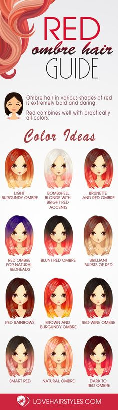Gorgeous Red Ombre Hair Styles You Know You Want To Try ★ See more: http://lovehairstyles.com/red-ombre-hair-styles/