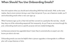 Trying to understand SaaS onboarding email best practices? Here's a huge guide on planning your free trial emails (based on my analysis of hundreds of emails) You Got This, Let It Be, Best Practice, Need To Know, Names, How To Plan, Reading, Its Ok, Reading Books
