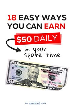 Are you looking for ways to make $50 day online? | The Practical Saver | With so many bills like a credit card, it is now the time to earn cash to pay them and save more passive income. Learn simple tricks to make money online from home with these easy side gigs that earn extra cash fast. Find out how you can make more money daily with these no scam, best free personal finance tips. #makemoney #personalfinance #debtfree Hobbies That Make Money, Ways To Save Money, Make More Money, Make Money From Home, Money Saving Tips, Make Money Online, Things To Sell, Extra Cash, Extra Money
