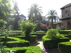 Al Hambra in Granada - Spain (garden)