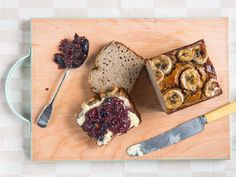 Cinnamon Banana Bread with Chia Jam from Eating Well with Hemsley and Hemsley