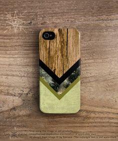 Chevron iPhone 5 case wood iPhone 4s case Chevron iPhone 5c case geometric iPhone 4 case vintage forest green iPhone 5s case black c245 on Etsy, $23.99