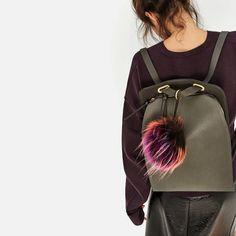 Image 5 of POMPOM CROSSBODY BACKPACK from Zara