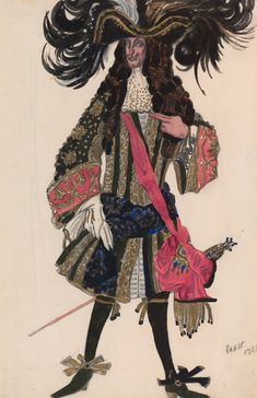 Léon Bakst (1866-1924). The Sleeping Princess, Costume design for Galison, 1921. Ink and watercolor. Uncatalogued designs. Gift of Frederick R. Koch, 1984.