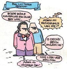 Bay Lori Türkçe Öğreniyor. karikatür