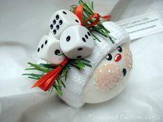 Bunco Christmas Ornament Snowman