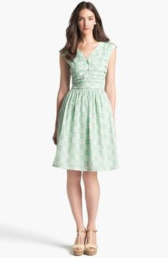 So pretty: Mint Tory Burch fit & flare dress.