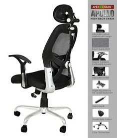 Rating : 3.5 out of 5  Reviews : More than 1,000 reviews about it.  The reviews and rating indicate it is also a good one  Approximate Price : Rs. 6,500 High Back Office Chair, Black Office Chair, Home Office Chairs, Office Table, Home Office Furniture, Study Desk, Study Office, Best Computer Chairs, Student Chair