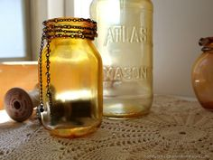 DIY Faux Amber Glass | homework