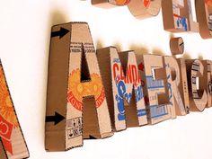 Resultado de imagen para cardboard art