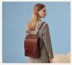 Online shopping for Satchels - Handbags & Wallets from a great selection at Clothing, Shoes & Jewelry Store. Brown Leather Backpack, Leather Laptop Bag, Leather Shoulder Bag, Leather Backpacks, Black Handbags, Leather Handbags, Backpack Outfit, Satchel Backpack, Best Laptop Backpack