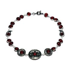 Bijoux Steampunk Collier Rouge par CatherinetteRings sur Etsy