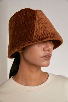 Oversized White Shirt, Head Accessories, Cool Hats, Fabric Art, Bucket Hat, Cool Style, Amber, Velvet, Brown