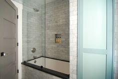 long subway tile in shower | 66 Statuary Marble Italian White Statuario Home Design Photos